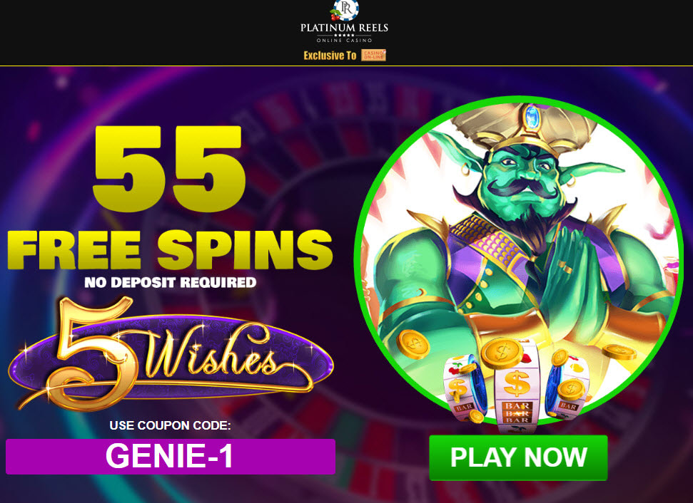 Platinum Reels Casino no deposit