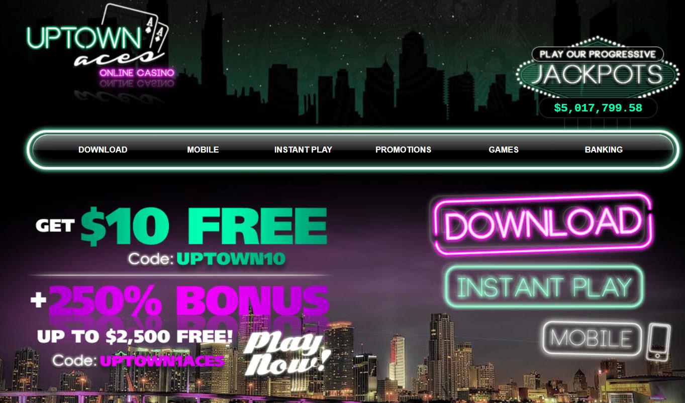 Uptown aces $100 no deposit bonus codes 2020 usa
