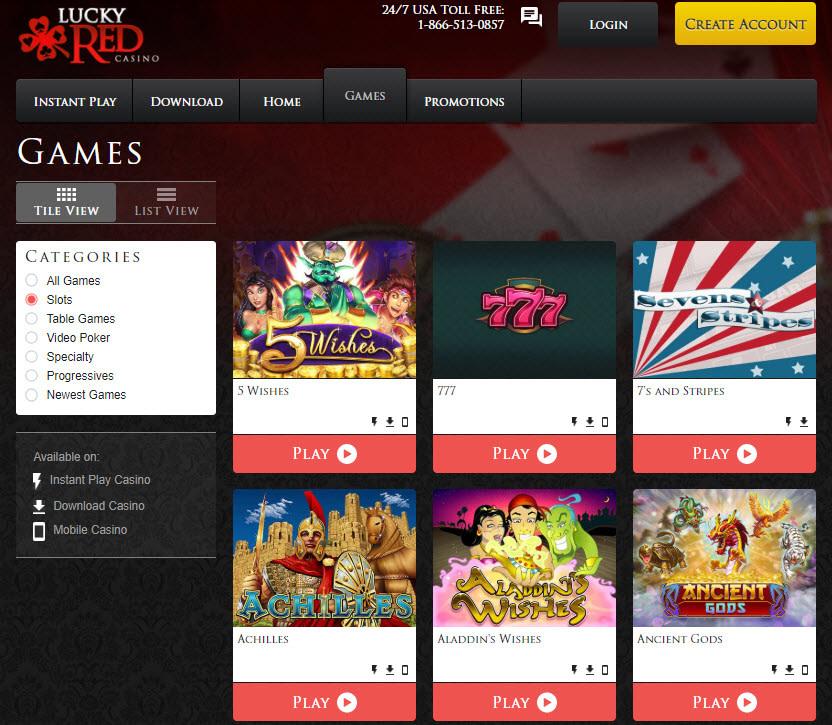 Lucky Red Casino Free Bonus Codes