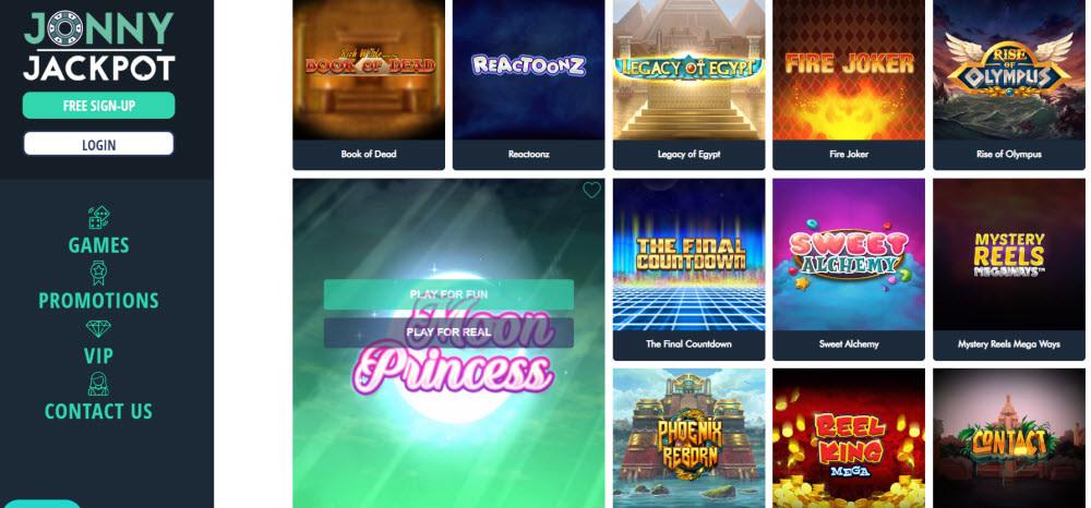 JonnyJackpot Casino Slots