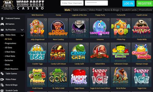 Vegas Crest Casino Canadian Bonus Review