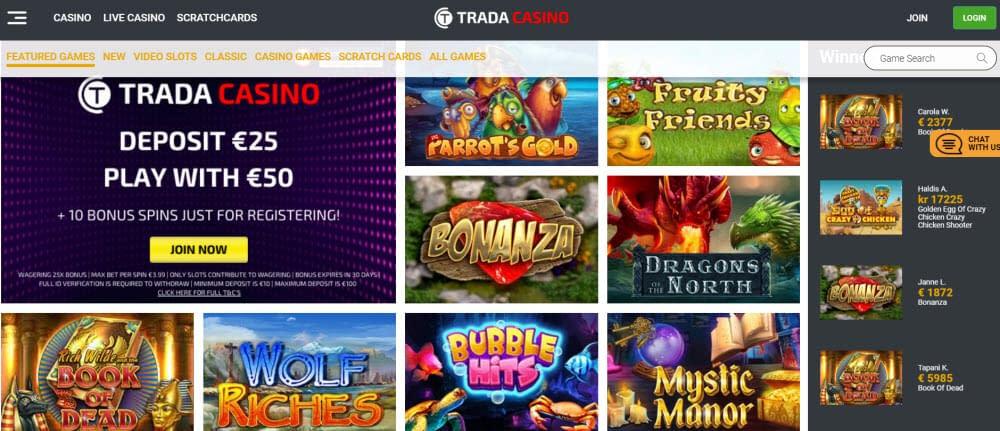 trada casino slots