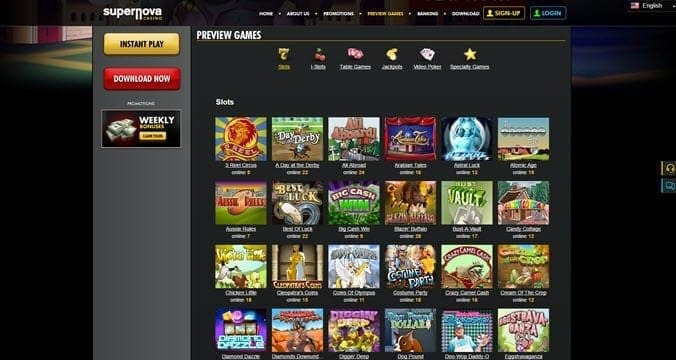 SuperNova Casino Games