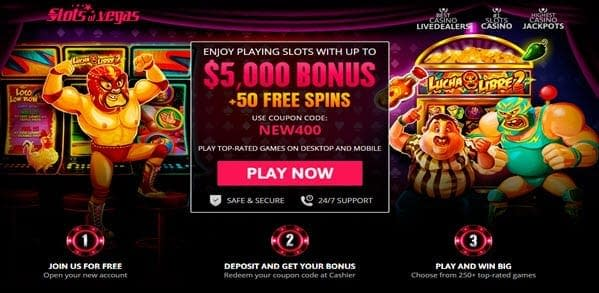 50 Free Spins Slots Of Vegas