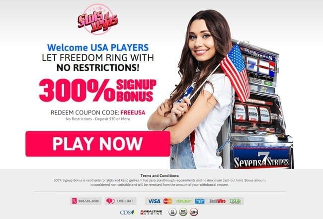 slots of vegas bonus 300% sign-up