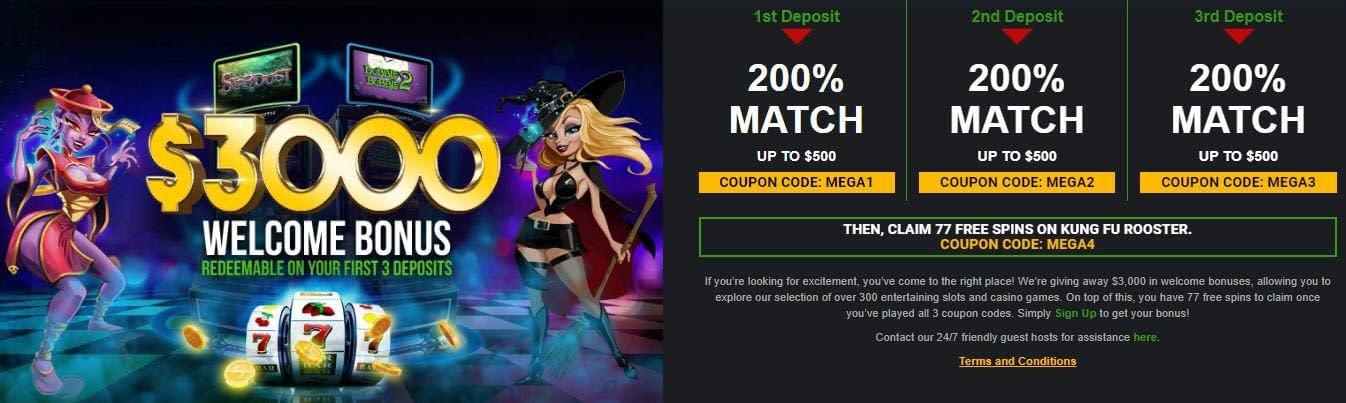 Mega Casino No Deposit Bonus Codes