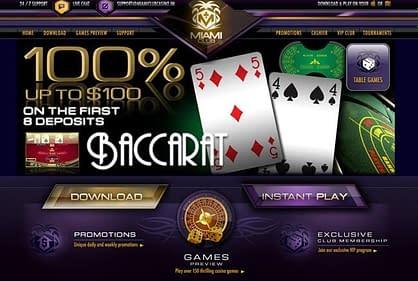 baccarat live casino online bonus