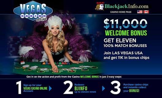 vegas casino online blackjack bonus