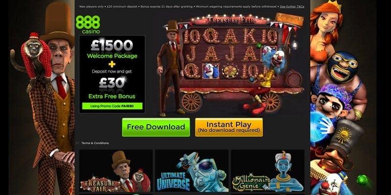 casinos online 888 treasure
