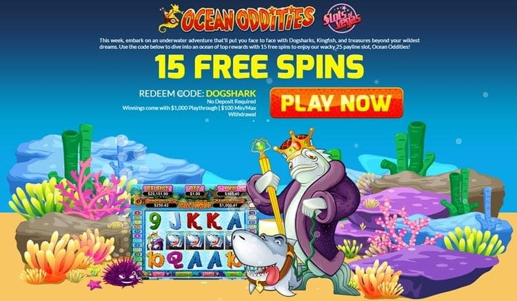 slots of vegas 15 free spins