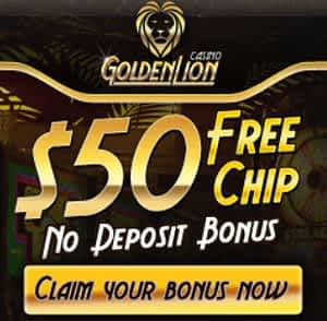 golden lion casino no deposit 50$ free play
