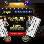 AU bonus 25 rich casino