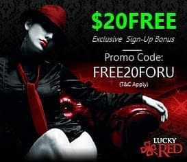 lucky red casino exclusive promo code