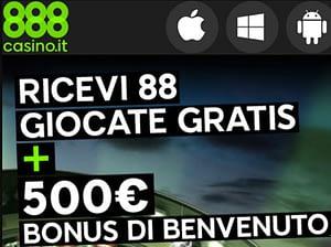bonus senza deposito di euro 88