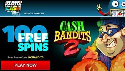 SlotO Cash 100 Free Spins