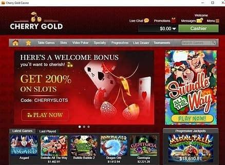 Cherry Gold Casino Lobby