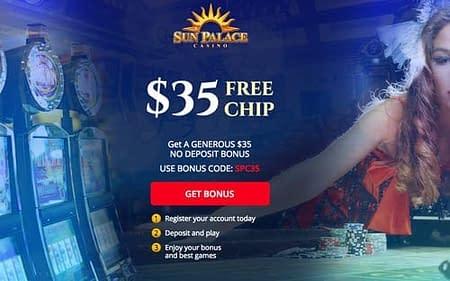 SunPalace Casino $35 No Deposit Bonus