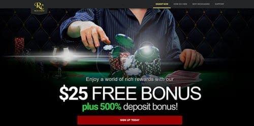 rich casino bonus code
