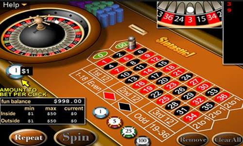 Roulette real time gaming
