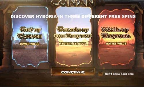 Conan Video Slot