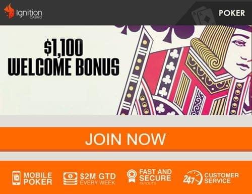 ignition casino mobile poker bonus