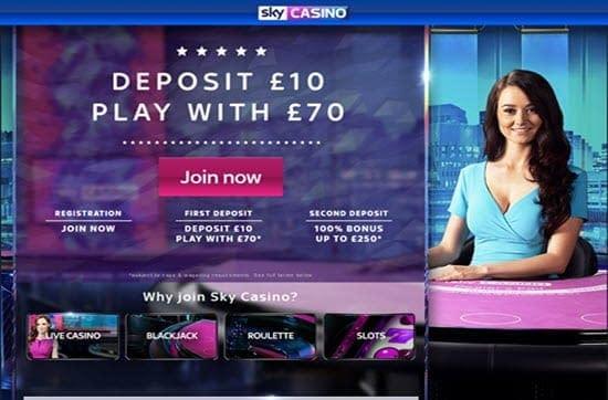 sky casino deposit bonus