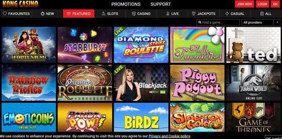 Kong Casino Games Slots
