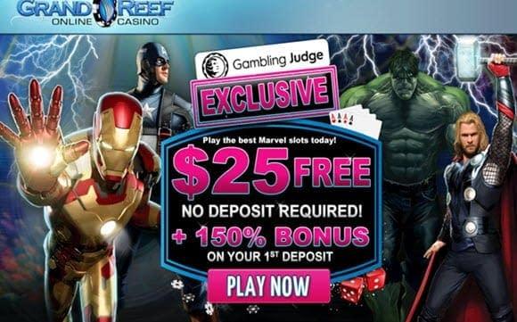 grand reef casino no deposit bonus