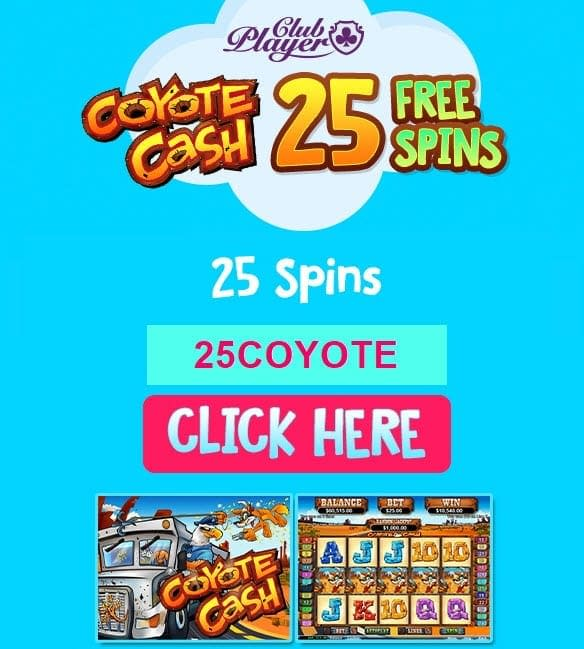 coyotecash 25 free spins