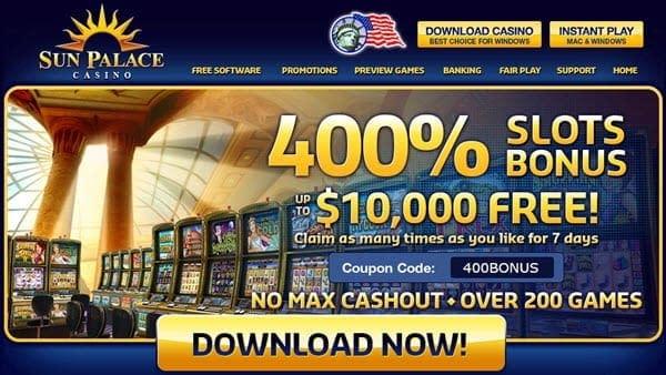 sun palace casino promotions new players