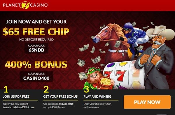Planet 7 casino Free Chip