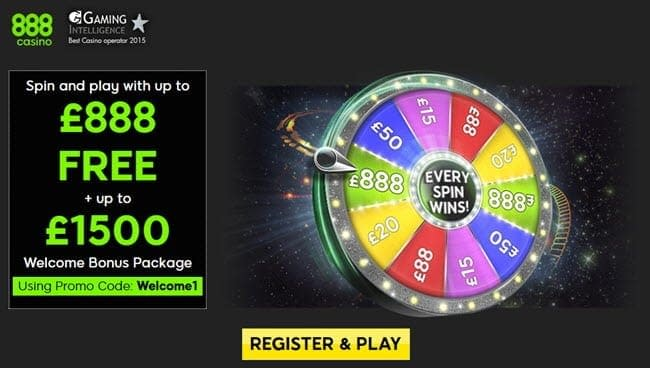 888casino wheel of fortune bonus £888 Free