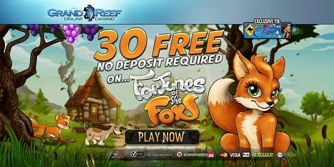 grand reef online casino 30 free no deposit
