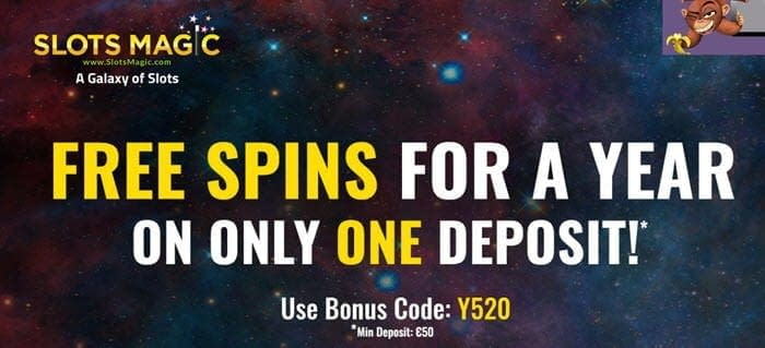 slots magic free spins for a year