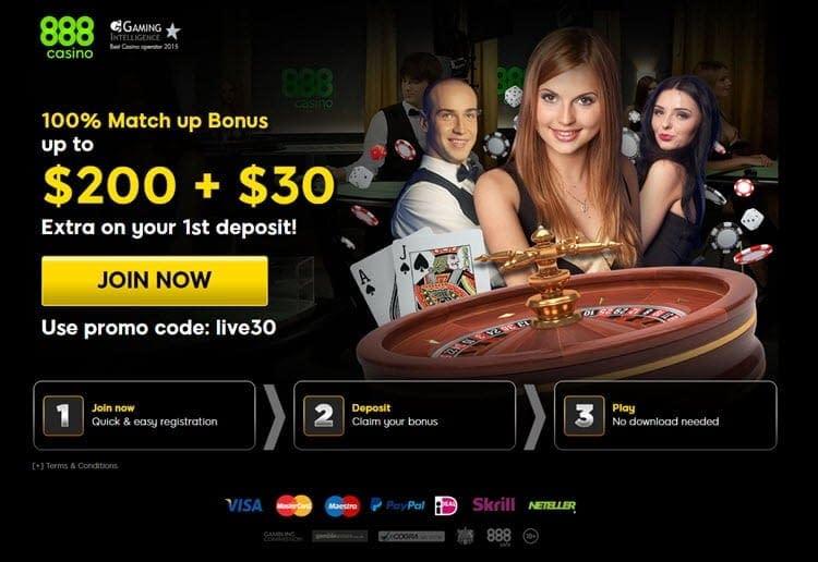 casino online 888 live bonus