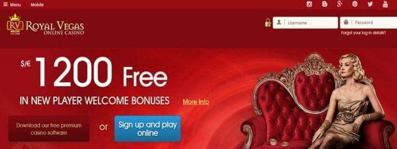 royal vegas casino bonus mobile