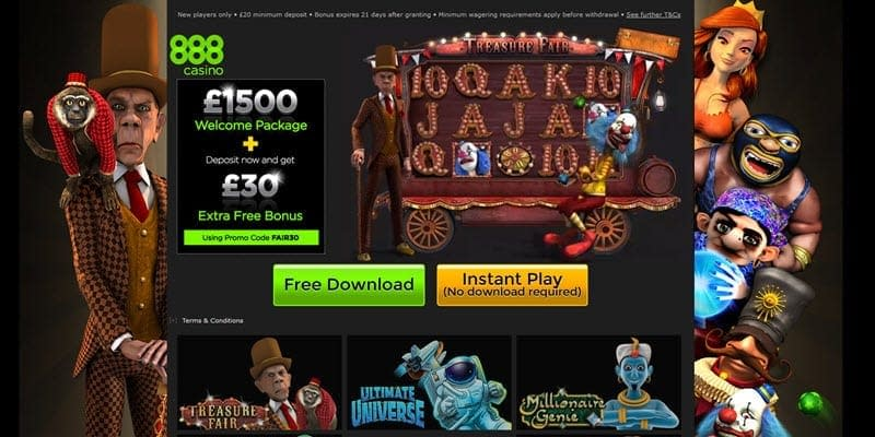 casinos online 888 treasure