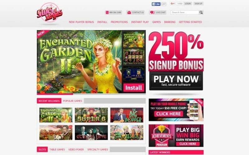 slots of vegas casino on line bonus codes