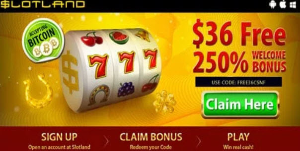 Slotland Casino No Deposit Bonus Codes